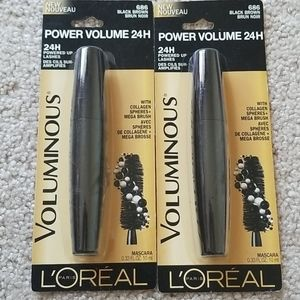 NWT 2 L'oreal Voluminous Power Volume black brown